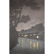 川瀬巴水: Rain at Maekawa - Ronin Gallery