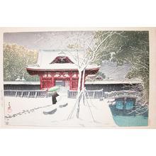 川瀬巴水: Snow at Shiba Park - Ronin Gallery
