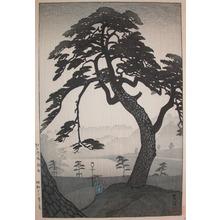 笠松紫浪: Kinokunizaka in Spring Rain - Ronin Gallery