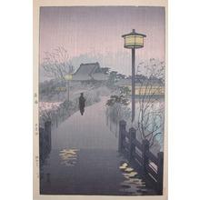 笠松紫浪: Night Rain at Shinobazu - Ronin Gallery