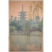 吉田博: Gardens at Sarusawa Pond - Ronin Gallery