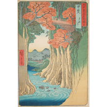 歌川広重: Monkey Bridge Over Rapids: Kai Province. - Ronin Gallery