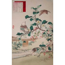 Kono Bairei: Tea Flower and Birds - Ronin Gallery