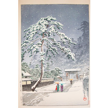 Kawase Hasui: Hommonji Temple in Snow - Ronin Gallery