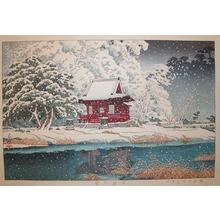 Kawase Hasui: Snow at Togashira - Ronin Gallery
