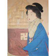 Takeuchi Keishu: Visiting Temple in the Winter - Ronin Gallery