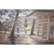 風光礼讃: Sengakuji Temple in Rain, Takanawa - Ronin Gallery