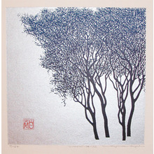 Maki Haku: Winter Tree (work 74-72) - Ronin Gallery