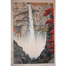 笠松紫浪: Waterfall at Nikko - Ronin Gallery