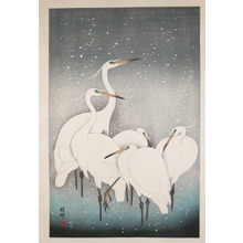 Shoson: Herons in Snow - Ronin Gallery
