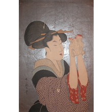 喜多川歌麿: Woman Reading a Letter - Ronin Gallery