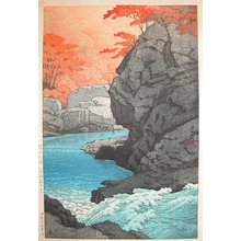 Kawase Hasui: Autumn at Shiobara: Tengu Rock - Ronin Gallery