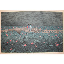 川瀬巴水: Benten Pond at Shiba - Ronin Gallery