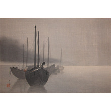 Seitei: Boats at Night - Ronin Gallery