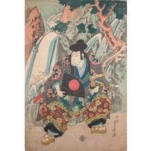 Shigeharu: Kabuki Actor Nakamura Utaemon as Jiraiya - Ronin Gallery