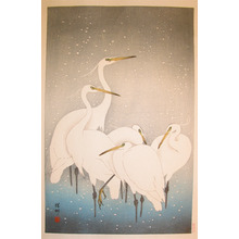 Shoson: Herons in Snow - Ronin Gallery