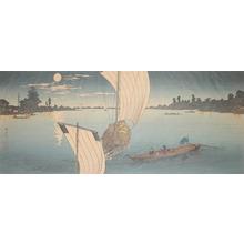 渡辺省亭: Edo River - Ronin Gallery
