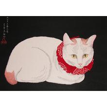 渡辺省亭: White Cat - Ronin Gallery