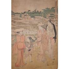 Katsukawa Shuncho: Rice Field - Ronin Gallery