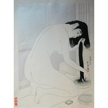 橋口五葉: Woman Washing Her Hair - Ronin Gallery