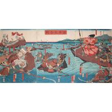 Utagawa Kuniyoshi: Yoshitsune and Benkei - Ronin Gallery
