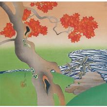Gekko: Maple Tree and Stream - Ronin Gallery