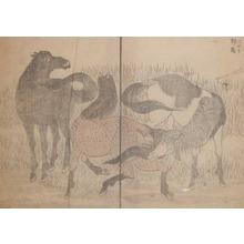 葛飾北斎: Wild Horses - Ronin Gallery