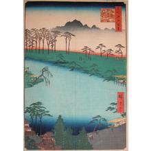歌川広重: Kumano Junisha Shrine at Tsunohazu - Ronin Gallery