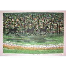 Fujita: Running Horses - Ronin Gallery