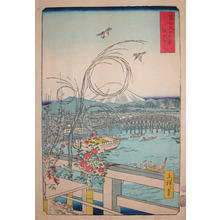 Utagawa Hiroshige II: Edobashi Bridge - Ronin Gallery
