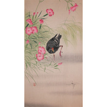 Koson: Gallinule Bird and Water Strider - Ronin Gallery