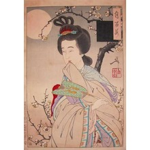 Tsukioka Yoshitoshi: Chinese Beauty in Moonlight - Ronin Gallery
