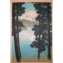 笠松紫浪: Mt. Fuji and Ashinoko Lake at Hakone - Ronin Gallery