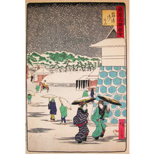 二歌川広重: Snow at Sujikai-Gomon - Ronin Gallery