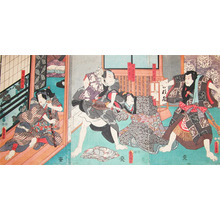 歌川国貞: inuta Kobungo and Inuzuka Shino - Ronin Gallery