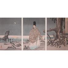 小林清親: Saugawara no Michizane - Ronin Gallery
