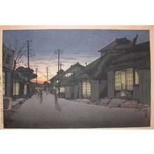 風光礼讃: Twilight at Imamiya Street, Choshi - Ronin Gallery