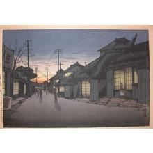 Tsuchiya Koitsu: Twilight at Imamiya Street, Choshi - Ronin Gallery