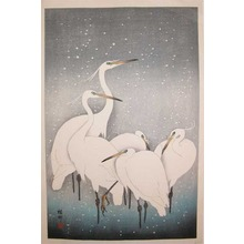 Shoson: Egrets in Snow - Ronin Gallery