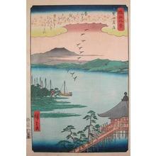 Utagawa Hiroshige: Returning Geese at Katada - Ronin Gallery