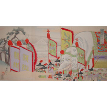豊原周延: Elephant at Sanno Festival - Ronin Gallery