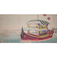 豊原周延: Tokugawa Shogun at Okawasuji - Ronin Gallery