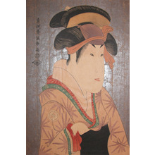 Toshusai Sharaku: Segawa Kikunojo III as Oshizu, Wife of Bunzo - Ronin Gallery