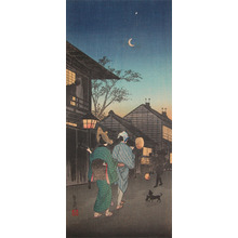 渡辺省亭: Evening in Shinagawa - Ronin Gallery