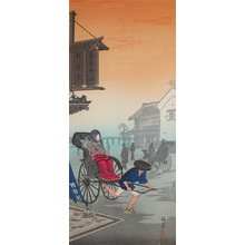 Watanabe Shotei: Rikishaw in Morning Mist - Ronin Gallery