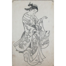 西川祐信: Dancer - Ronin Gallery