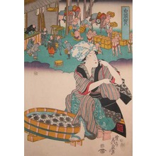 Keisai Eisen: Shirasuga: Wash Day - Ronin Gallery