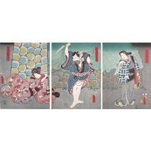 歌川国貞: Chogoro and Oteru - Ronin Gallery