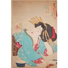 Tsukioka Yoshitoshi: Relaxed - Ronin Gallery