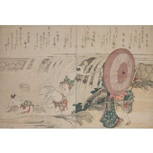 Katsushika Hokusai: Fishing at Basin of Waterfalls - Ronin Gallery